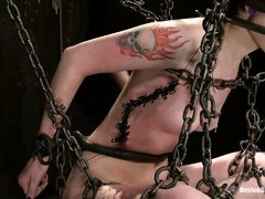 this girl is in chains