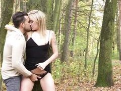it was a romantic walk in the woods