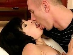Young man fucking and pissing on a brunette