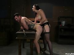 Chanel Preston Pegging Submissive Dude