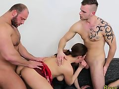 Buff bisex hunk cumming