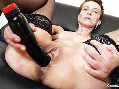 mature czech spread her legs wide