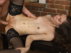 Stefanie loves pleasing rich handsome guys and getting