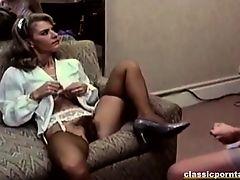 Hot lesbian vintage strapon fun