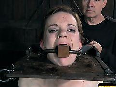 Italian amateur bondage squirt