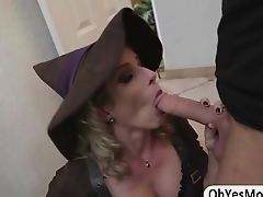 Amazing milf Cory teaches Rose to suck