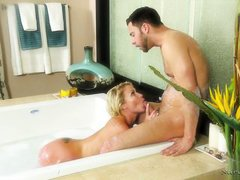 strong stud drilled me hard under the shower