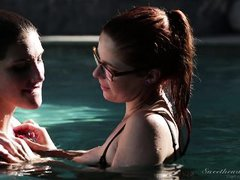sexy lesbians have fun in the water