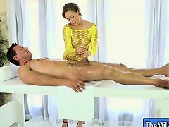 Sexy hot blonde masseuse Bailey Bae fucked by her client