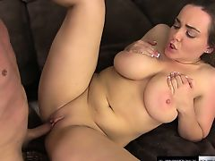 Natasha comes back to get her huge tits fucked