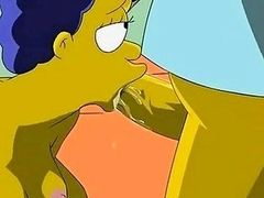 Simpsons Hentai  Homer fucks Marge