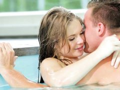 hot alessandra gets fucked by the swimming area