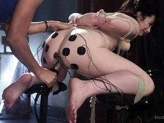 lusty lesbians playing with electricity