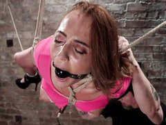 naughty babe tied up and punished