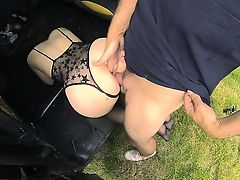 Pretty Cherri takes a good ride and fuck in the cab