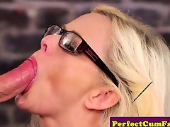 British secretary cum drenched after facial