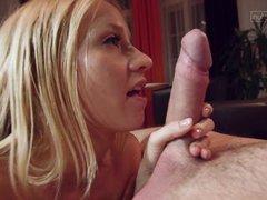 blonde slut sucking dick